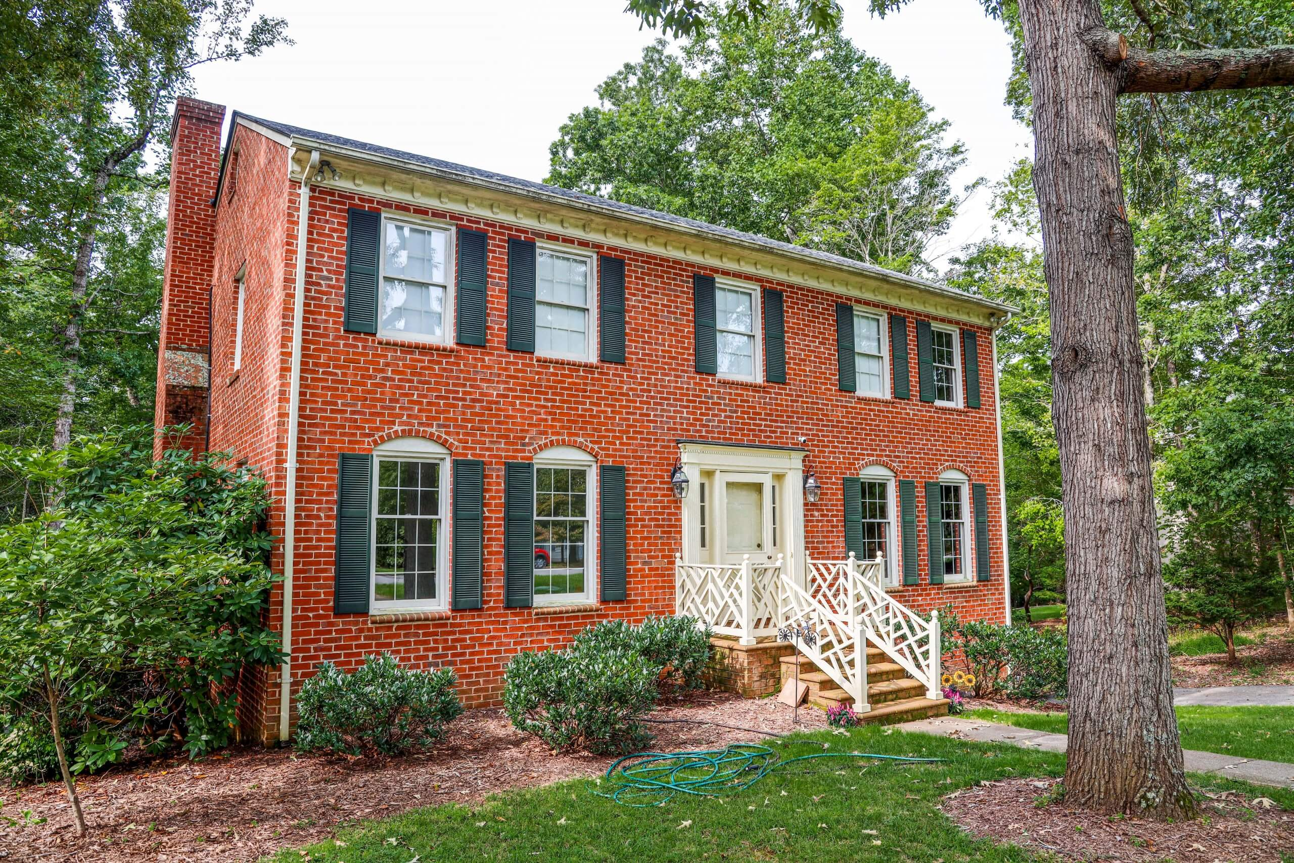 2 story brick house with a new roof in Lynchburg, VA 24503